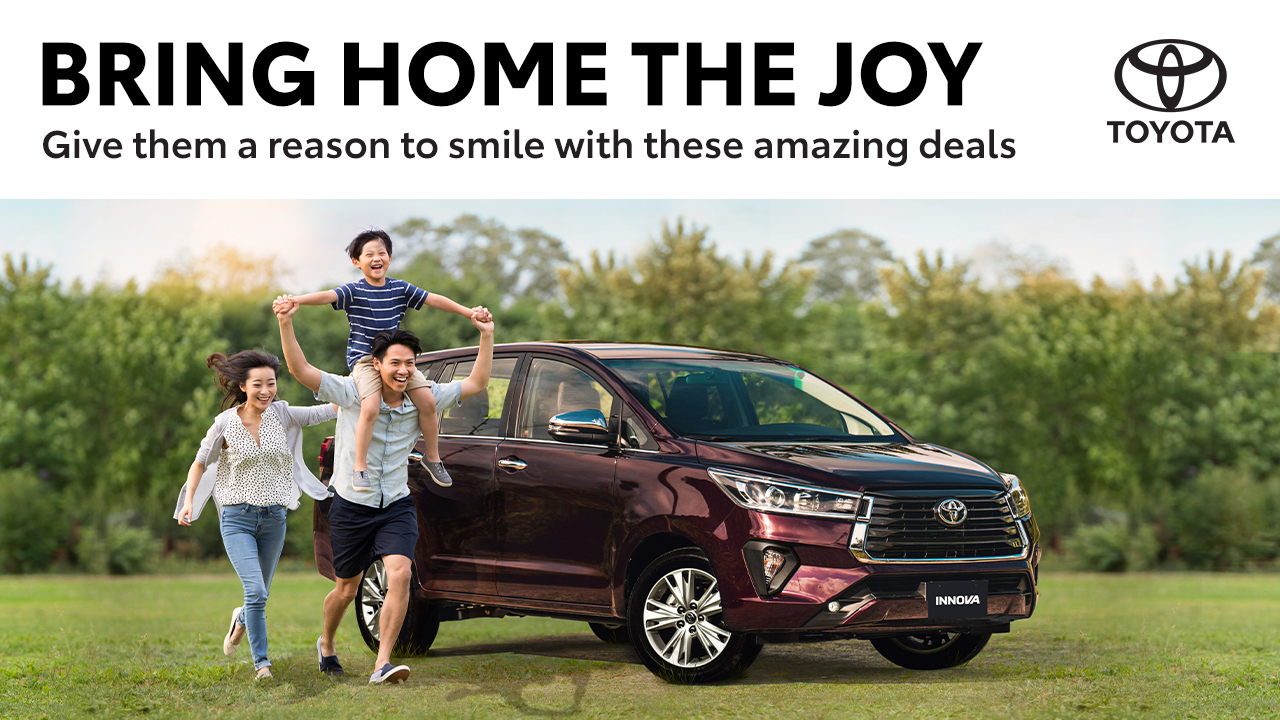 Bring home the joy on a new Toyota this April